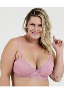Sutiã Feminino Com Base Flocado Plus Size Marisa