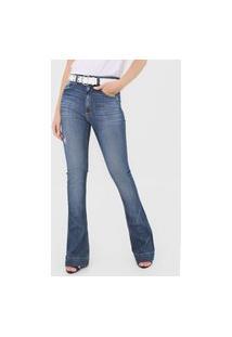 Calça Jeans John John Bootcut Manama Azul-Marinho