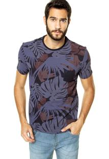 Camiseta Vr Folhagem Azul
