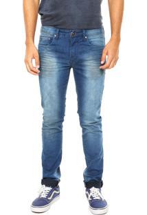 Calça Jean Calvin Klein Jeans Estonada Azul Escuro
