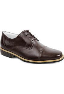 Sapato Social Masculino Derby Sandro Moscoloni Queenberry Marrom