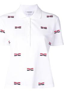 Thom Browne Camisa Polo Copm Bordado - Branco