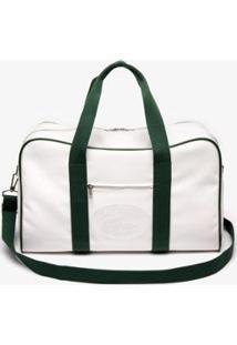 Bolsa Lacoste Masculina - Masculino-Branco+Verde