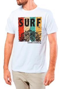 Camiseta Masculina Sandro Clothing Surf Mandala Branca