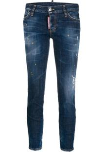 Dsquared2 Cropped Jeans - Azul