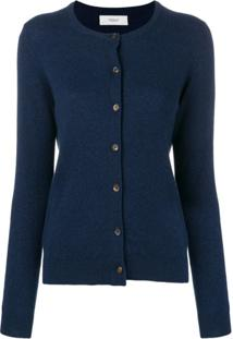 Pringle Of Scotland Cardigan De Cashmere Com Gola Redonda - Azul