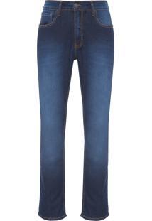 Calça Masculina Jeans Five Slim Straight - Azul