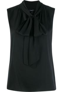 Theory Pussy Bow Blouse - Preto