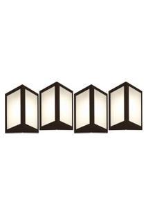 Arandela Triangular Marrom Kit Com 4 Casah