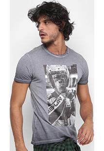 Camiseta Replay Monkey Masculina - Masculino-Cinza