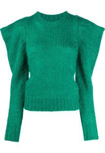 Isabel Marant Suéter Com Ombros Estruturados - Verde