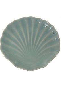 Prato De Sobremesa Em Cerâmica Ocean 19Cm Verde