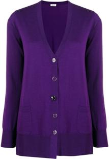Liu Jo V-Neck Knit Cardigan - Roxo