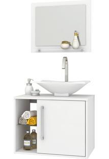 Conjunto P/ Banheiro Baden Branco Móveis Bechara