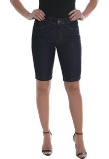 Bermuda Jeans Osmoze Middle Plus Z 23858 Un Azul - Azul - Feminino - Dafiti