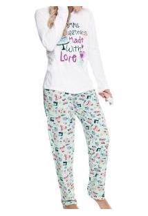 Pijama Longo Sweetness Malwee Liberta (1000004699) 100% Algodão