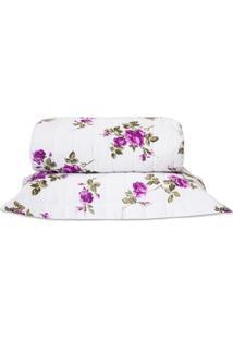 Cobre Leito Standard Flores Pink Solteiro 160 Fios 02 Peã§As Dourados Enxovais - Rosa - Dafiti
