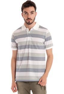 Camisa Konciny Polo Manga Curta Lilás Branco