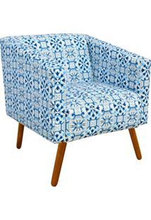 Poltrona Decorativa Sara Estampado Azulejo D50 - D'Rossi