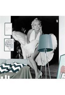 Painel Fotográfico Adesivo Marilyn Preto E Branco 1,83M X 2,6M Grudado Adesivos