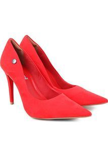 Scarpin Colcci Bico Fino Salto Alto Feminino - Feminino-Vermelho