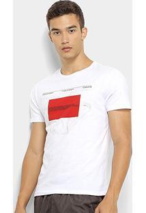 Camiseta Calvin Klein Top Circular Crew Neck Masculina - Masculino-Branco