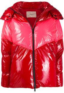 Twin-Set Zip Up Puffer Jacket - Vermelho