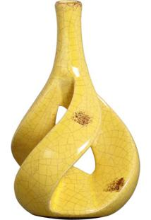 Vaso Decorativo Vazado Ii Amarelo Buzzio