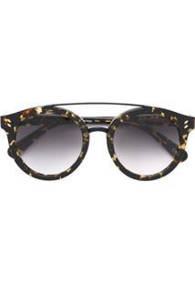Farfetch. Stella Mccartney Eyewear Óculos De Sol Com Lentes Degradê - Marrom 1eb95ca365