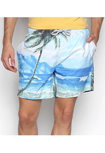 Shorts Jab Beira Mar Masculino - Masculino-Off White