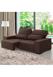 Sofá 3 Lugares Retrátil E Reclinável Relax Chocolate - Viero Móveis