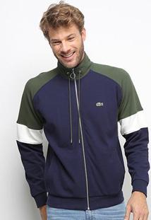 Blusa Lacoste Malha Masculina - Masculino-Verde+Azul