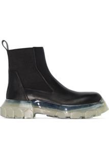 Rick Owens Ankle Boot Beetle - Preto