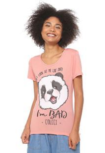 Camiseta Colcci Estampada Coral