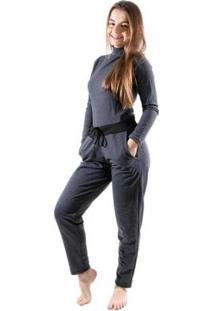 Calça Moletinho 4 Estações Cos Alto Lisa Moda Skin Feminina - Feminino