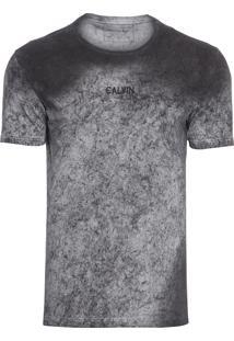 Camiseta Masculina Logo Centralizado - Cinza
