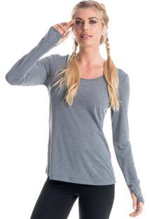 Camiseta Pulse Mg Longa Mescla/G