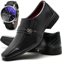 fa5e5be760 Sapato Social Relógio Top Flex 806 Preto