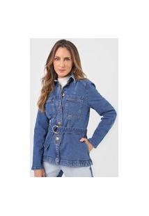 Jaqueta Jeans Morena Rosa Bolsos Azul