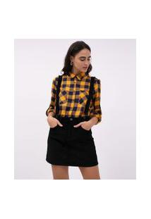 Camisa Xadrez Flanela Amarela | Blue Steel | Amarelo | P
