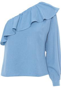 Blusa Feminina Ombro Só - Azul