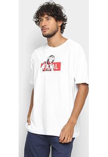 Camiseta Fatal Estampa Logo Masculina - Masculino-Branco