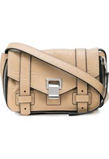 Proenza Schouler Ps1+ Mini Crossbody Zip-Paper Leather - Marrom