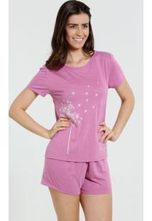 Pijama Short Doll Estampa Flor Marisa