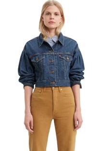 Jaqueta Jeans Levis Trucker Pleat Sleeve - 00000 Azul - Tricae
