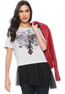 Camiseta Cavalera Poa Branca