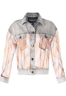 Emporio Armani Jaqueta Jeans Com Recorte Translúcido - F637 Grigio Brookly