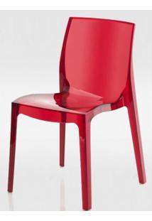 Cadeira Femme Fatale Policarbonato Vermelho - 16305 Sun House