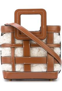 Staud Shirley Plaid Mini Bag - Marrom