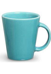 Conjunto De Canecas Basic Em Cerâmica 208 Ml Com 04 Peças Azul Poppy - Porto Brasil